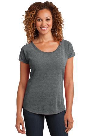 District Made DM443 Ladies Tri-Blend Scoop Tee