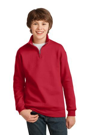 Jerzees 995Y Youth Quater-Zip Cadet Collar Sweatshirt