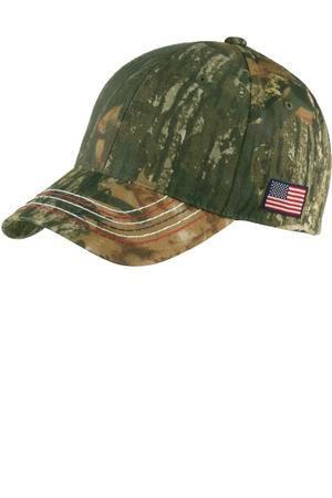 Port Authority C909 Americana Contrast Stitch Camouflage Cap