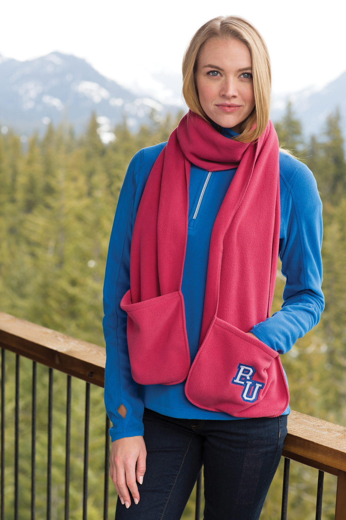 Port Authority FS06 Extra Long Fleece Scarf with Pockets