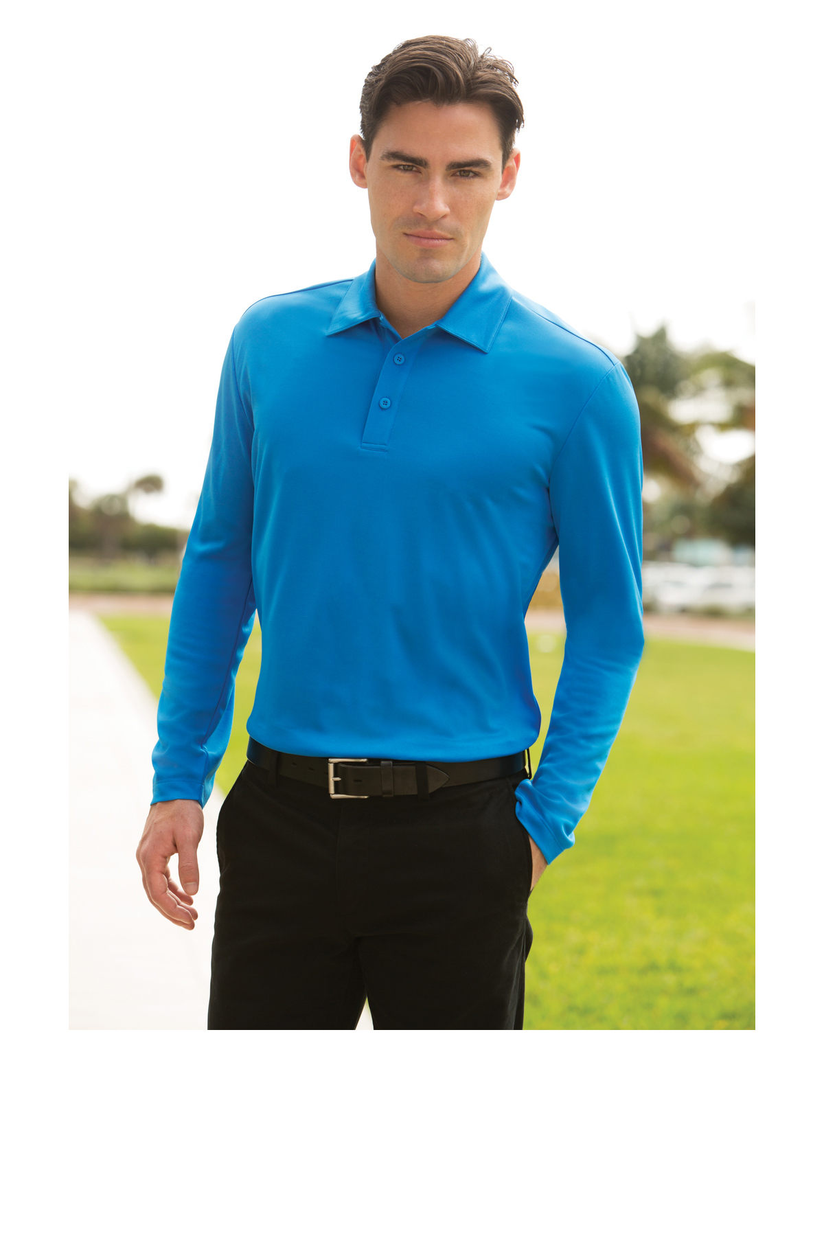 Y500LS Royal M Port Authority Youth Long Sleeve Silk Touch Polo