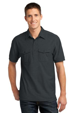 Port Authority K557 Oxford Pique Double Pocket Polo