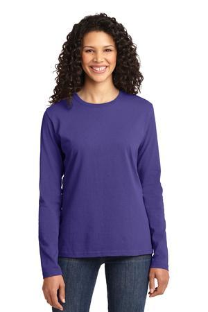 Port & Company LPC54LS Ladies Long Sleeve 5.4-oz 100% ...
