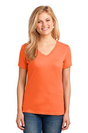 Port & Company LPC54V Ladies 5.4-oz 100% Cotton V-Neck T-Shirt