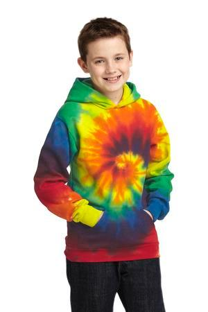 Port & Company PC146Y Youth Essential Tie-Dye Pullover Hooded Sweatshirt