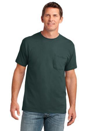 Port & Company PC54P 5.4-oz 100% Cotton Pocket T-Shirt