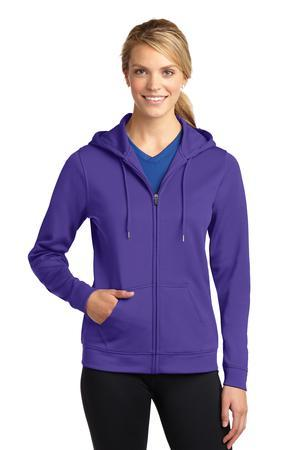 Sport-Tek LST238 Ladies Sport-Wick Fleece Full-Zip Hooded ...