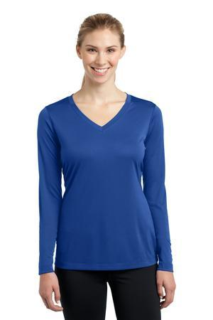Sport-Tek LST353LS Ladies Long Sleeve V-Neck PosiCharge ...