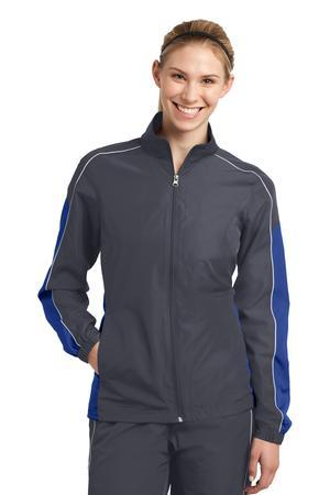 Sport-Tek LST61 Ladies Piped Colorblock Wind Jacket