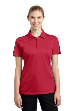 Sport-Tek LST695 Ladies PosiCharge Active Textured Colorblock Polo