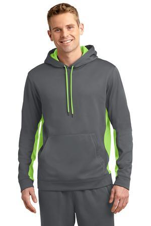 Sport-Tek ST235 Sport-Wick Fleece Colorblock Hooded ...