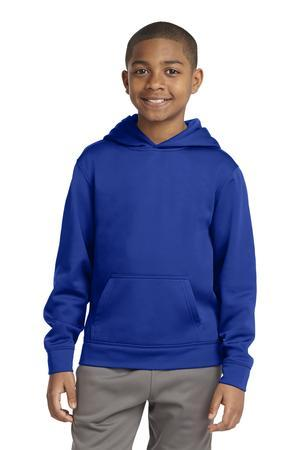 Sport-Tek YST244 Youth Sport-Wick Fleece Hooded Pullover