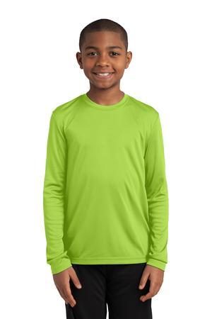 Sport-Tek YST350LS Youth Long Sleeve PosiCharge Competitor ...