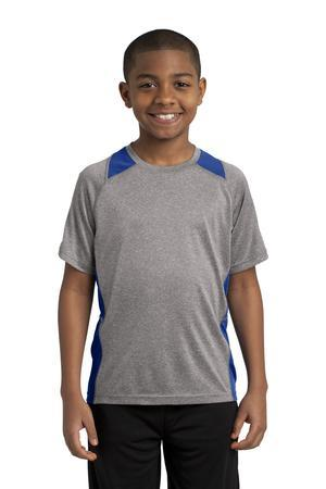 Sport-Tek YST361 - Youth Heather Colorblock Contender ...