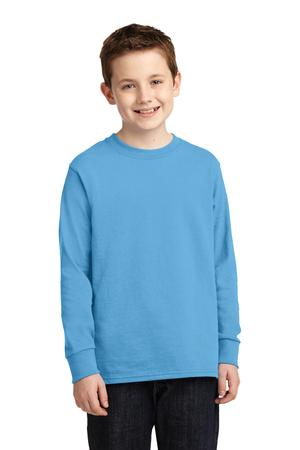 Port & Company PC54YLS Youth Long Sleeve 5.4-oz 100% Cotton T-Shirt
