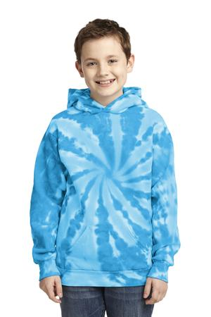 Port & Company PC146Y Youth Essential Tie-Dye Pullover Hooded Sweatshirt