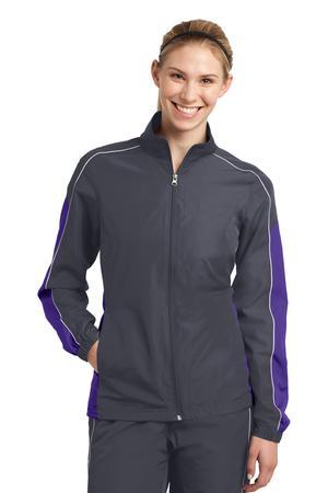 Sport-Tek LST61 Ladies Piped Colorblock Wind Jacket