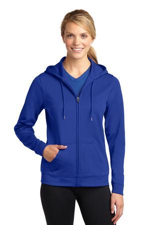 Sport-Tek LST238 Ladies Sport-Wick Fleece Full-Zip Hooded Jacket