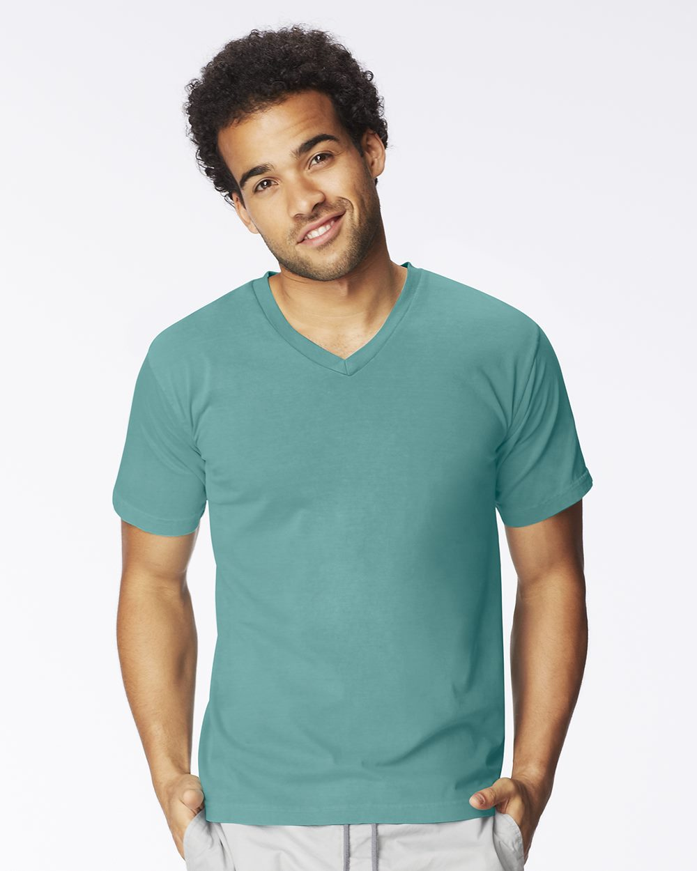 Comfort Colors 4099 Pigment Dyed V-Neck T-Shirt