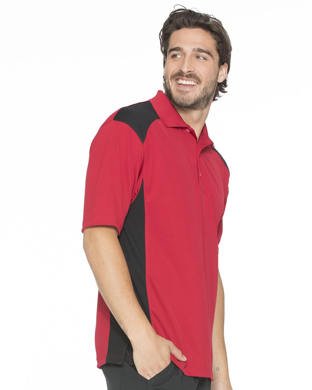 FeatherLite 0466 Spirit Racing Colorblocked Moisture-Free Mesh Sport Shirt