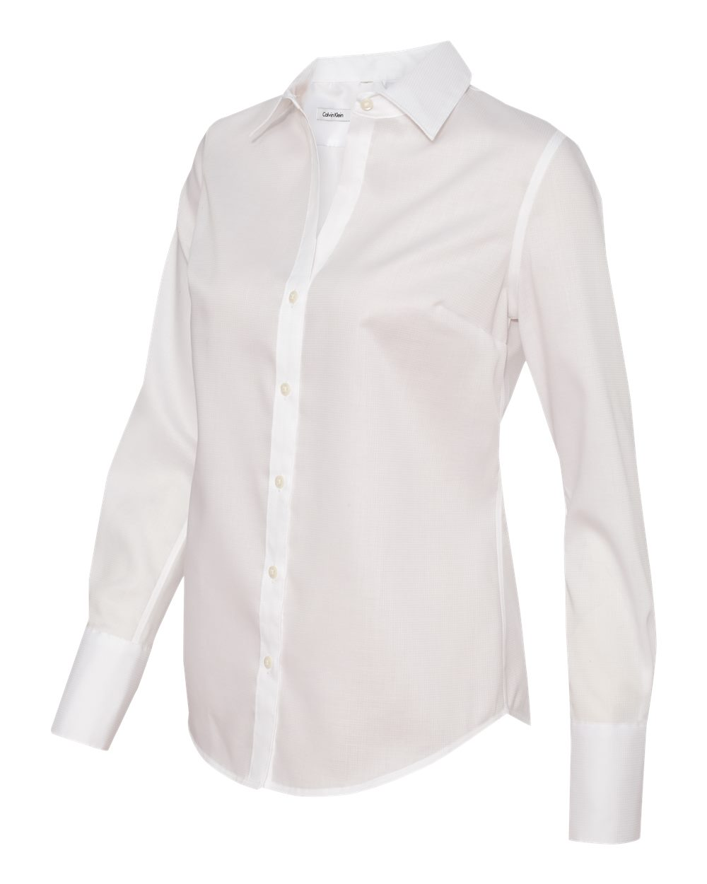 Calvin Klein 13ck030 Ladies 39 Non Iron Dobby Pindot Shirt