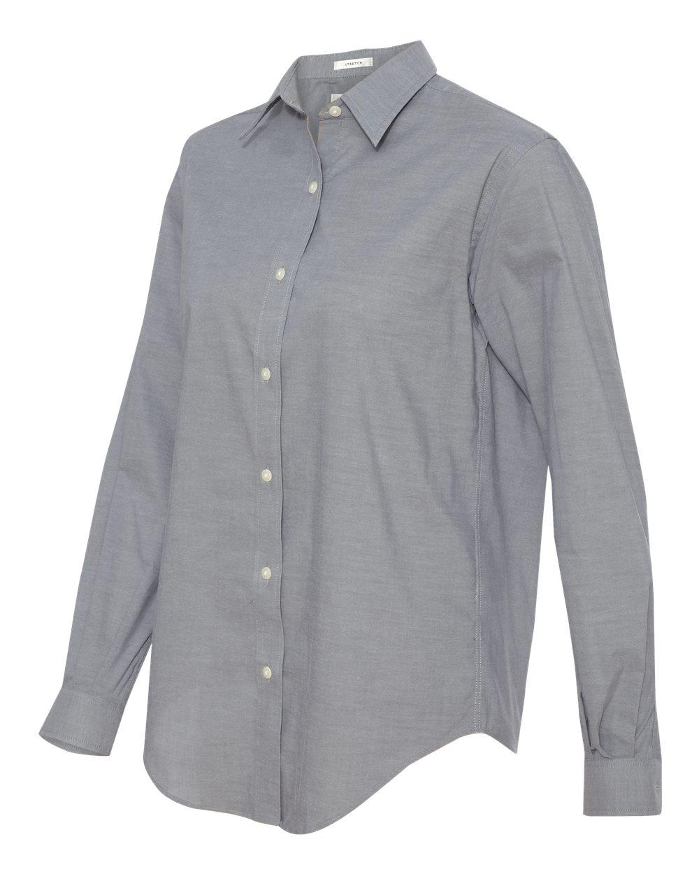 Van Heusen 13V0238 Ladies' Stretch Pinpoint Spread Collar Shirt