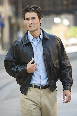 Burk's Bay BB101 Buffed Napa Leather Bomber
