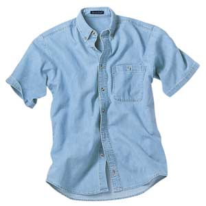 River's End 4025 Men's Denim and Twill Short Sleeve ...