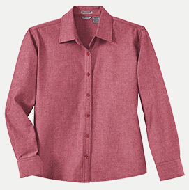 River's End 626 Women's Yarn Dyed Chambray Long Sleeve ...
