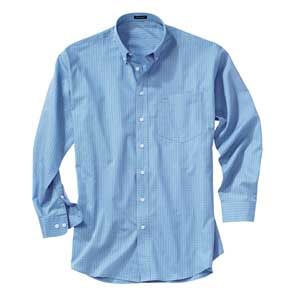 River's End 737 Men's Easy-Care Poplin Check