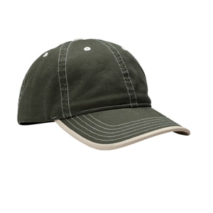 River's End RE007 Contrast Stitch Cap w/Rolled Edge ...