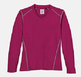 River's End SPORT 1111LS Women's L/S V-Neck Tee