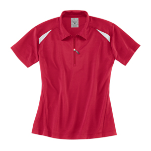 River's End SPORT 1211 Ladies' Color Block Zip Polo