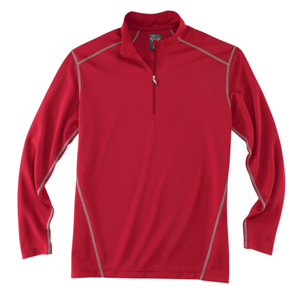 River's End SPORT 1610 Men's Contrast-Stitch 1/2-Zip Pullover