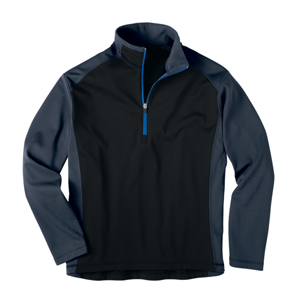 River's End SPORT 8090 Men's Microfleece Color Block 1/2-ZIP Pullovers