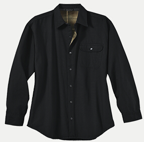 River's End 4070 Men's Canvas Long Sleeve Shirt Jacket with Flannel Lining