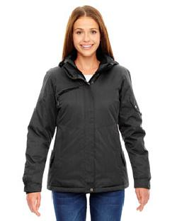 Ash City North End 78209 - Ladies' Rivet Textured Twill Insulated Jacket