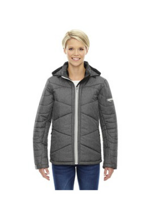 Ash City North End Sport Blue 88677 - Ladies' Avant Tech Melange Insulated Jacket with Heat Reflect Technology