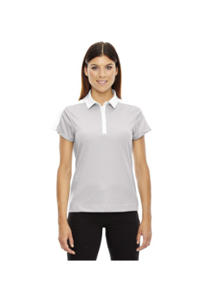 Ash City North End Sport Red 78676 - Ladies' Symmetry UTK cool logik Coffee Performance Polo