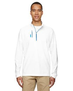 adidas A195 - puremotion Mixed Media Quarter-Zip