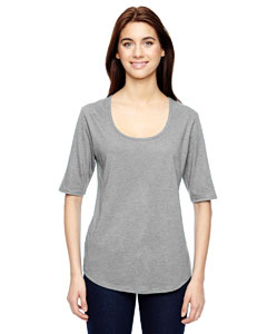 Anvil 6756L - Ladies' Triblend Deep Scoop Half-Sleeve ...