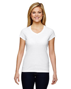 Champion T050 - Vapor Ladies' Cotton Short-Sleeve V-...