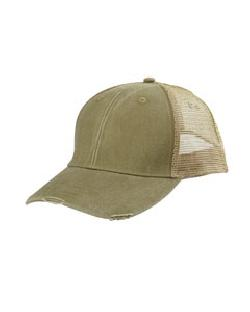 Adams Caps OL102 - 6-Panel Pigment-Dyed Distressed Trucker ...