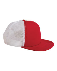 Big Accessories BX030 - 5-Panel Foam Front Trucker Cap