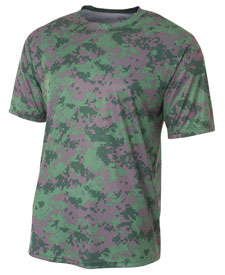 A4 - A4N3256 Mens Camo Performance T