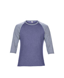 Anvil - A6755 Adult Triblend 3/4 Sleeve Raglan