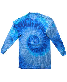 Colortone - T321P Adult Blue Jerry Long Sleeve Tie Dye ...