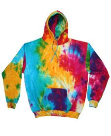 Colortone - T366R Adult Multi-Rainbow Tie Dye Pullover ...