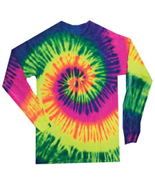 Colortone - T904P Neon Rainbow Yth Long Sleeve Tie Dye
