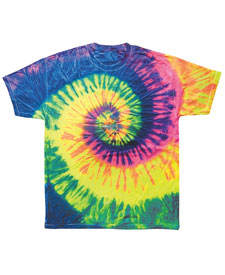 Colortone - T935P Youth Neon Rainbow Tie Dye Tee